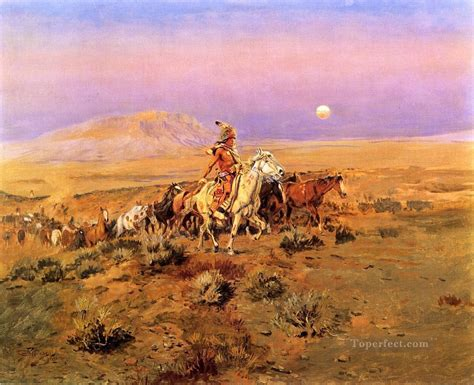 charles marion russell high quality oil painting the horse thieves indians charles marion russell indiana