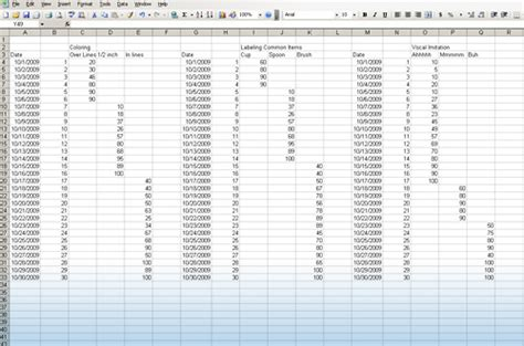 aba graphing spreadsheet