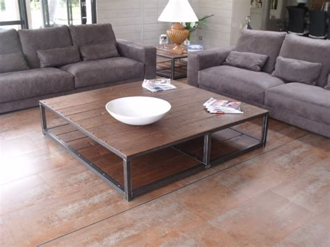 Table Basse Chene Massif 211 by Grande Table Basse Bois M 233 Tal 160x160 Micheli Design