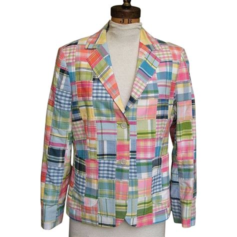 Madras Patchwork - patchwork madras jacket cotton lined made in india