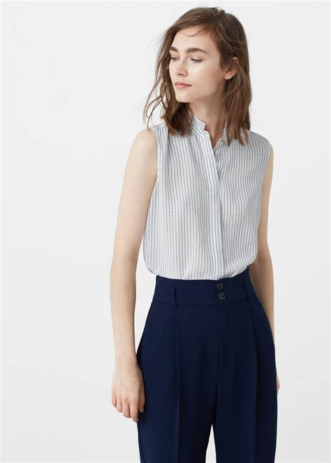 Blouse Stripe Flowy flowy striped blouse shirts for mango usa tops casual mango thailand