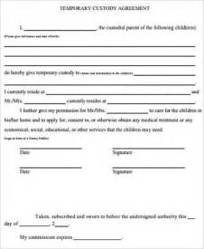 sample temporary custody form 7 examples in word pdf