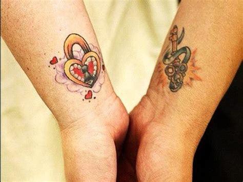 nice couple tattoos tattoos for couples ideas key and lock fav