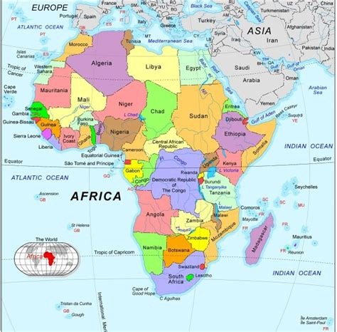 africa map regions africa map region country map of world region city