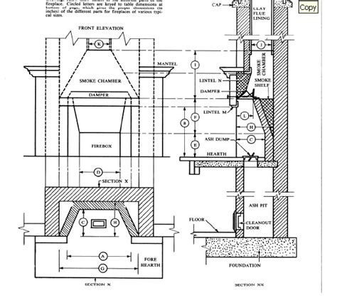 Fireplace Plans by High Resolution Rumford Fireplace Dimensions 7 Masonry
