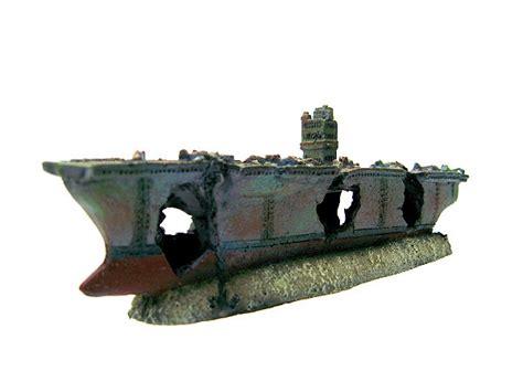 12 5x1x4cmcm Wooden Fish Ornaments Navy Dekor aircraft carrier cave aquarium ornament navy warship