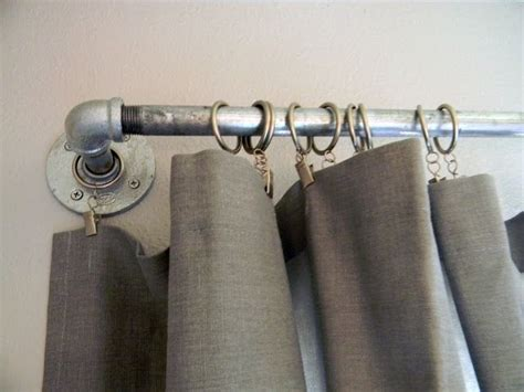 conduit curtain rods pin by natalie terry on guest room ideas pinterest