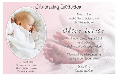 pin christening invitation templates free download on