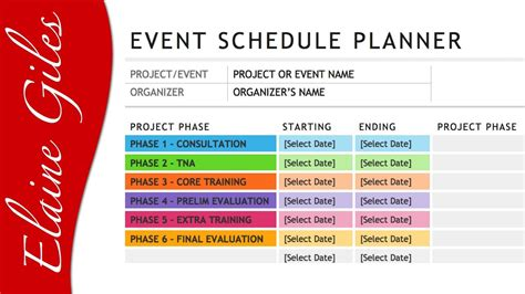 Microsoft Word 2013 Schedule Template Youtube Event Staff Schedule Template