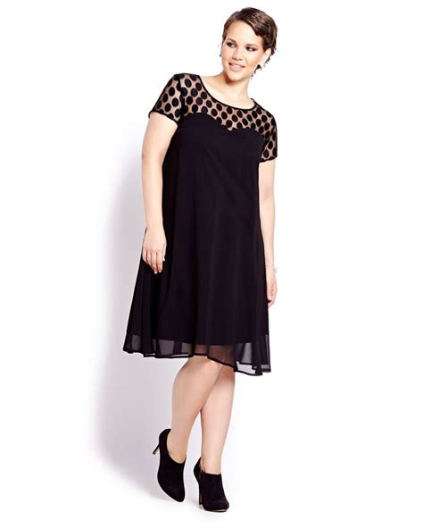 swing short short sleeve swing dress addition elle
