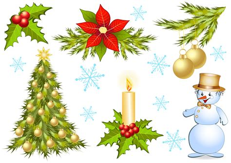 christmas decorations 1 vector free vector 4vector