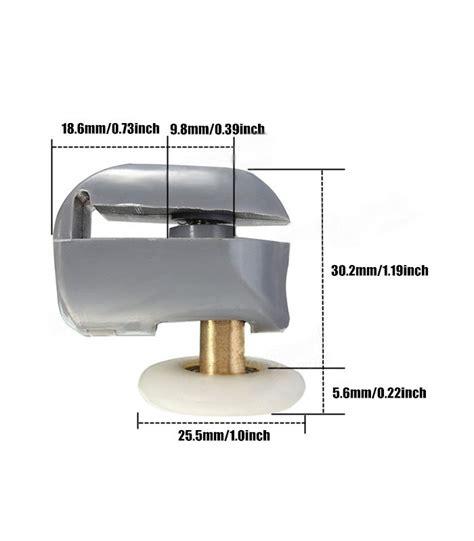 ante per doccia ruota cuscinetto per scorrevoli box doccia in vetro 25 mm
