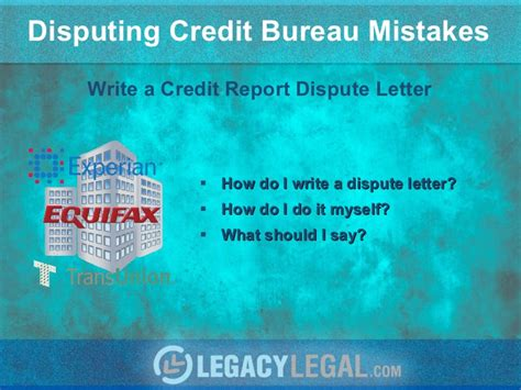 Effective Credit Dispute Letter How To Write Effective Credit Report Dispute Letter