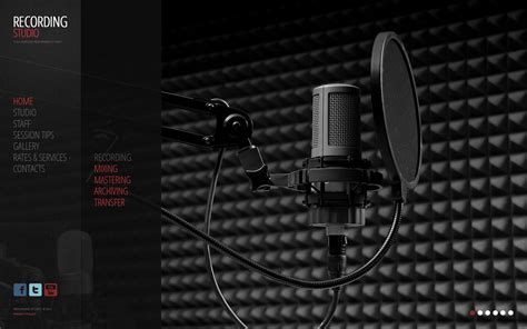 studio templates recording studio flash cms template 44685