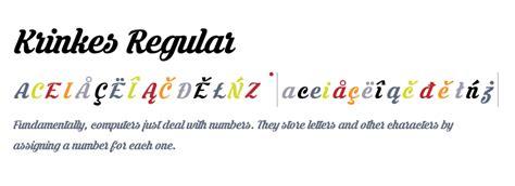 font krinkes krinkes regular fonts com
