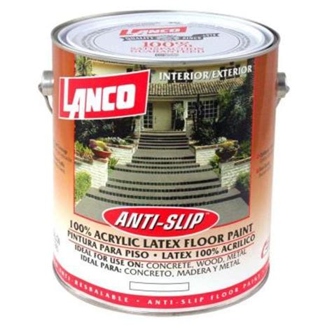 1 Gal Satin 1 Part Epoxy Acrylic Concrete And Garage Floor Paint - sure step 1 gal anti slip acrylic interior exterior
