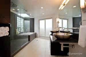 modern master bathroom ideas contemporary master bathroom with frameless vessel sink