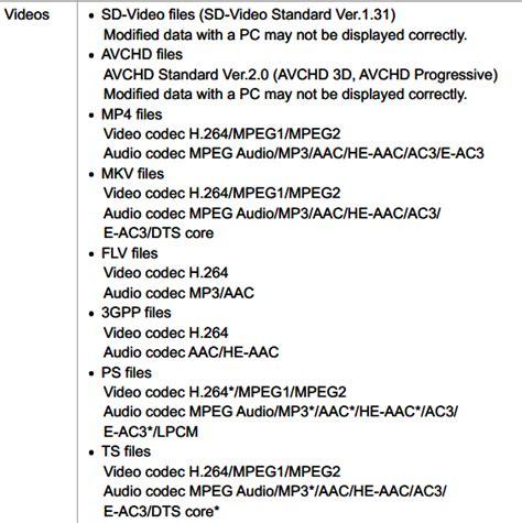 file format video samsung tv tv supported file formats smart tv tips