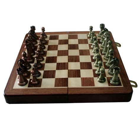 Handmade Chess Board - buy handmade folding chess board with metallic pcs