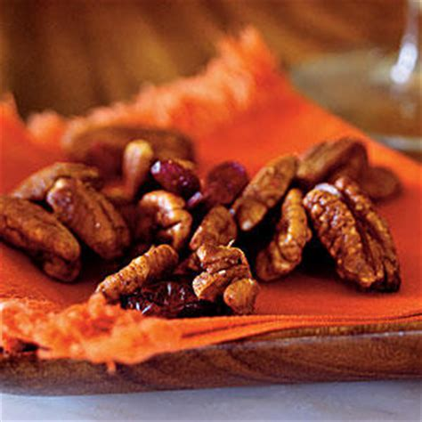 cooking light holiday appetizers orange chipotle spiced pecan mix healthy holiday