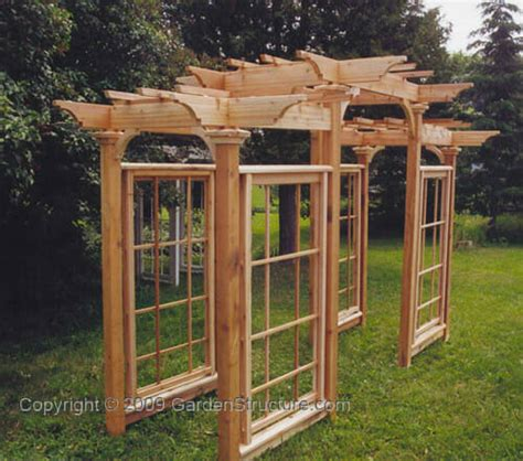 pergola building plans an arts and crafts pergola plan by gardenstructure