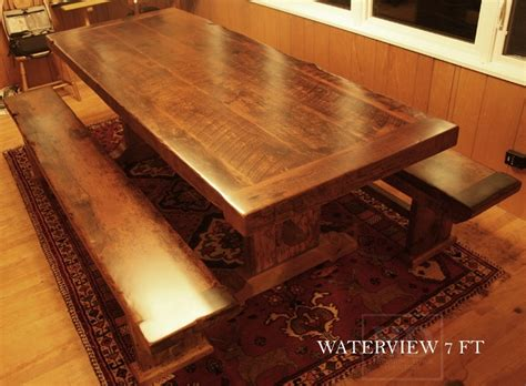 how to finish a table top with polyurethane 3 top option made from barn joists
