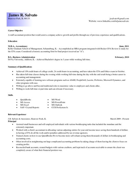 Resume Objective Entry Level Accounting Entry Level Accounting Resume Exles Resume Exles 2017