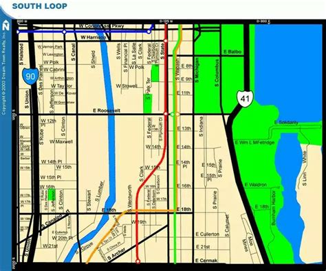 chicago loop map south loop map chicago chi town apartment