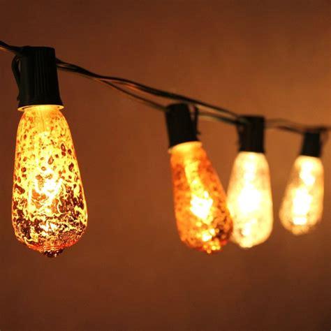 10 socket patio string light st40 mercury silver bulbs