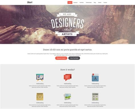 start responsive one page template 30 one page website templates built with html5 css3