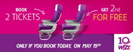wizzair promotion  booked seat