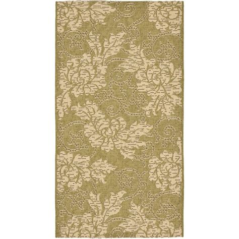 home depot indoor outdoor rug safavieh courtyard green 2 ft 7 in x 5 ft indoor outdoor area rug cy6555 24 3 the