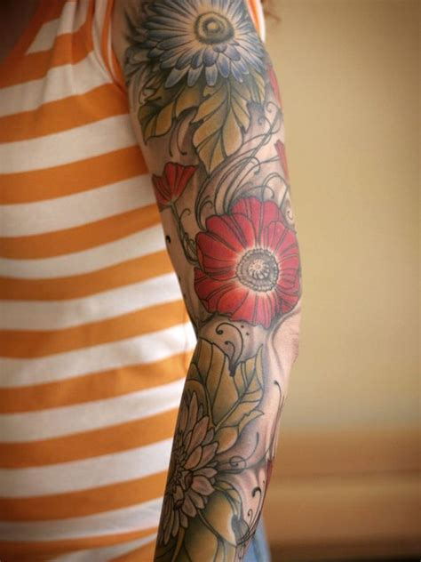 flower sleeve tattoo ideas 55 best sleeve tattoos