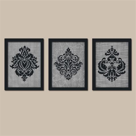 french bathroom wall art wall art canvas or prints french country damask black