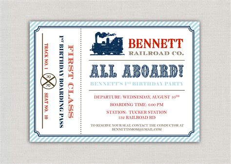 train invitations 1600 train announcements invites party