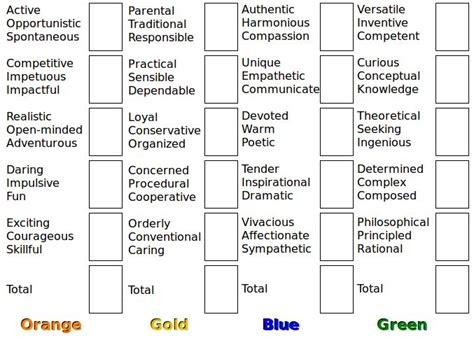 true color test leadership colors great quiz to take orderly classroom