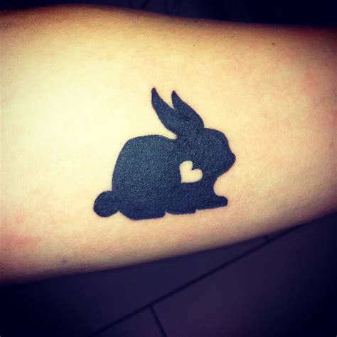 small rabbit tattoo bunny is beautiful