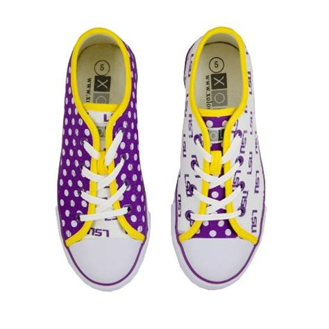 lsu tigers canvas lace up tennis shoes for purple