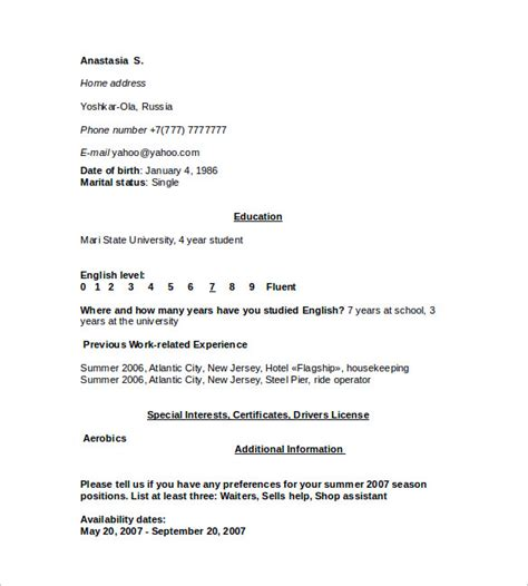 sle housekeeping resume 11 documents in pdf word