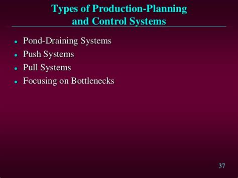 Types Of Production System Mba by Production Planning