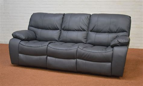 clearance leather recliner clearance beaumont grey leather recliner 3 seater sofa