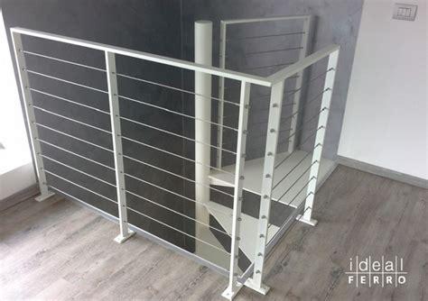 ringhiera scala interna acciaio ringhiera in ferro con cavi in acciaio inox idealferro