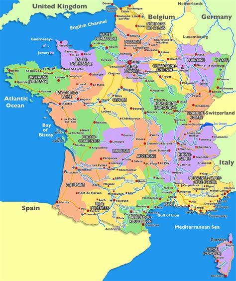 france carte  image satellite