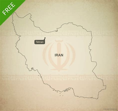 Iran Map Outline by Free Vector Map Of Iran Outline One Stop Map