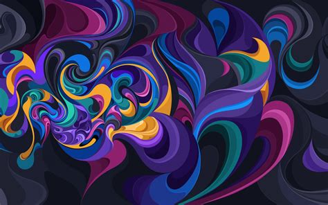 rainbow colors curve design colorful wallpapers hd