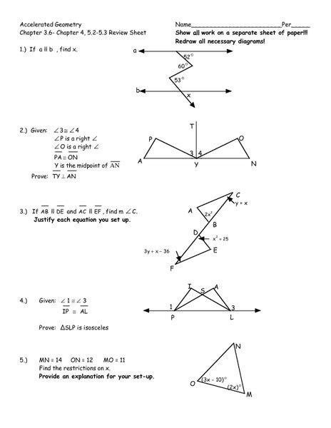 Geometry Review Worksheets by Worksheets Geometry Review Worksheets Opossumsoft