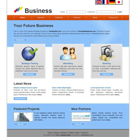 professional business website templates free template 042 business