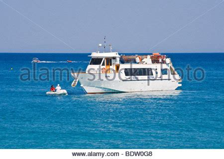 catamaran hire zante glass bottomed tourist boat by the blue caves on the