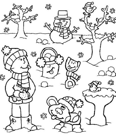 imagenes para colorear vacaciones de invierno en invierno dibujado imagui