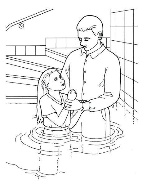 baptism day primary coloring page lds ldsprimary http